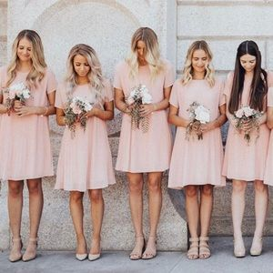 Stevie Hender Blush Pink Pleated Midi Dress